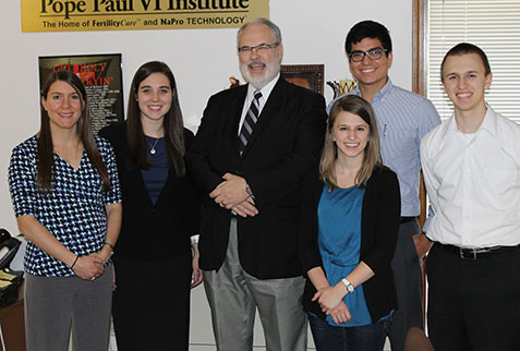 From left to right: Courtney Skow, Emily O'Donnell, Dr. Tom Hilgers, Marah Smith, Dino Francescutti, and Samuel Smith.