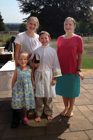 The Anderson Children (from left to right): Gloria (4), Mary (12), Joseph (10), and Martha (13).